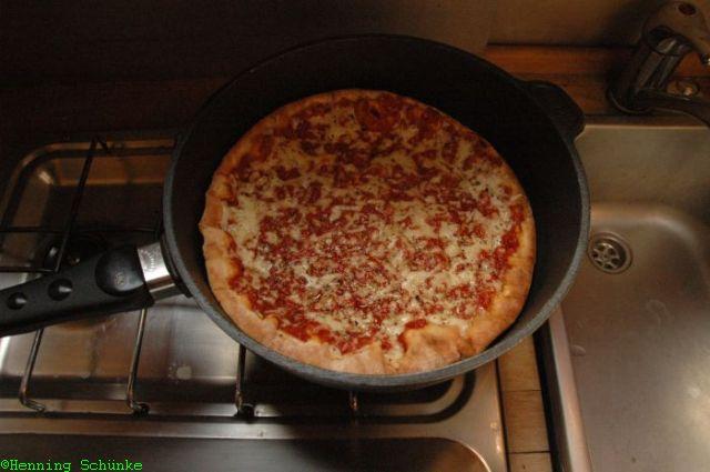 Pizza nachher