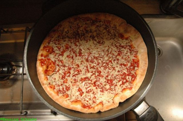 Pizza vorher