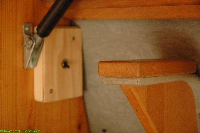 Schalter über der Sitzbank zum bequemen Ein- und Ausschalten der Internetverbindung