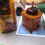 Kaffeemühle im Einsatz
