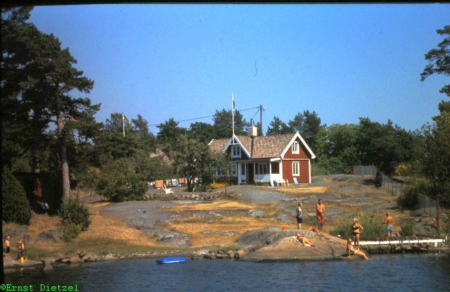 Schäreninsel an der schwedischen Ostküste, Erholungsort für Stockholmer